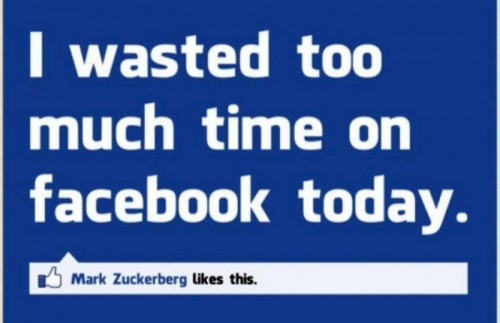 Waste time on Facebook