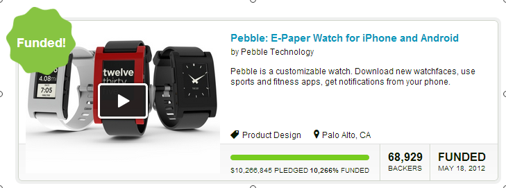 Kickstarter - E-Paper Watch