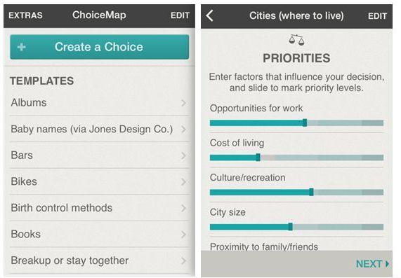 ChoiceMap