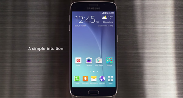 Samsung Galaxy S6 interfaccia
